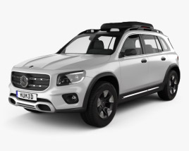 3D model of Mercedes-Benz GLB-class 2019