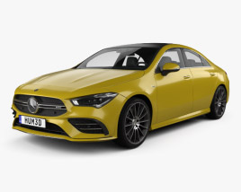 3D model of Mercedes-Benz CLA-class AMG 2019