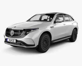 3D model of Mercedes-Benz EQC 2020