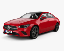 3D model of Mercedes-Benz CLA-class 2019