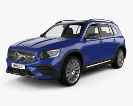 3D model of Mercedes-Benz GLB-class AMG-Line 2019