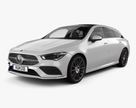 3D model of Mercedes-Benz CLA-class Shooting Brake AMG-Line 2019