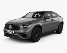 3D model of Mercedes-Benz GLC-class (C253) AMG coupe 2019