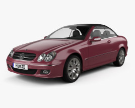 3D model of Mercedes-Benz CLK-class (A209) convertible 2005