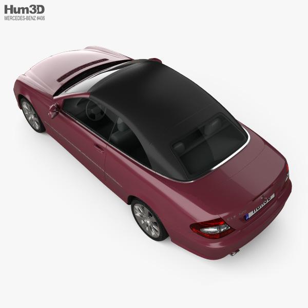 Mercedes-Benz CLK-class (A209) convertible 2005 3D model