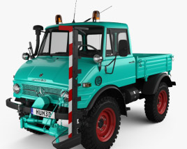 3D model of Mercedes-Benz Unimog 421 Mower 1966