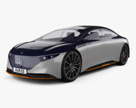 3D model of Mercedes-Benz Vision EQS 2019