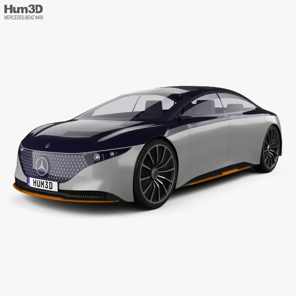 Mercedes-Benz Vision EQS 2019 3D model