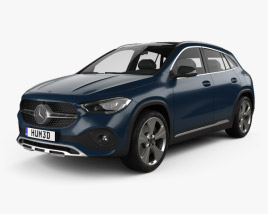 3D model of Mercedes-Benz GLA-class Progressive Line Edition 1 2020