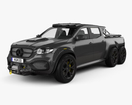 3D model of Mercedes-Benz X-Class Carlex EXY Monster X 6X6 2019