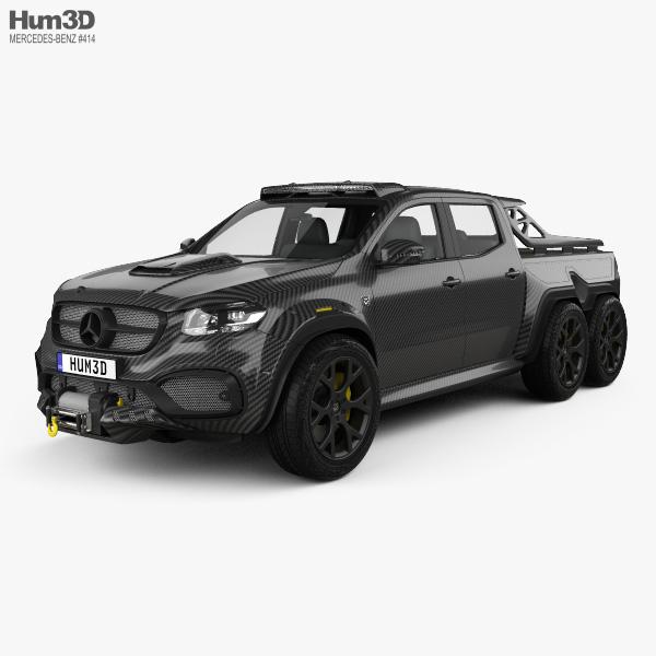 Mercedes-Benz X-Class Carlex EXY Monster X 6X6 2019 3D model