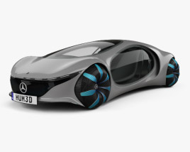 3D model of Mercedes-Benz Vision AVTR 2020