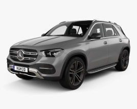 3D model of Mercedes-Benz GLE-class with HQ interior 2019