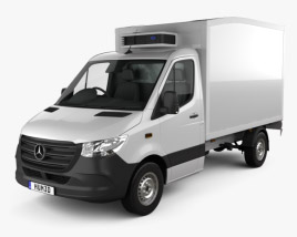 3D model of Mercedes-Benz Sprinter Delivery Van 2019