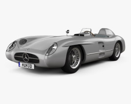 3D model of Mercedes-Benz 300 SLR with HQ interior and Engine 1955