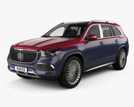 3D model of Mercedes-Benz GLS-class Maybach 600 2020