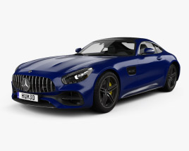 Mercedes-Benz AMG GT C coupe 2016 3D model