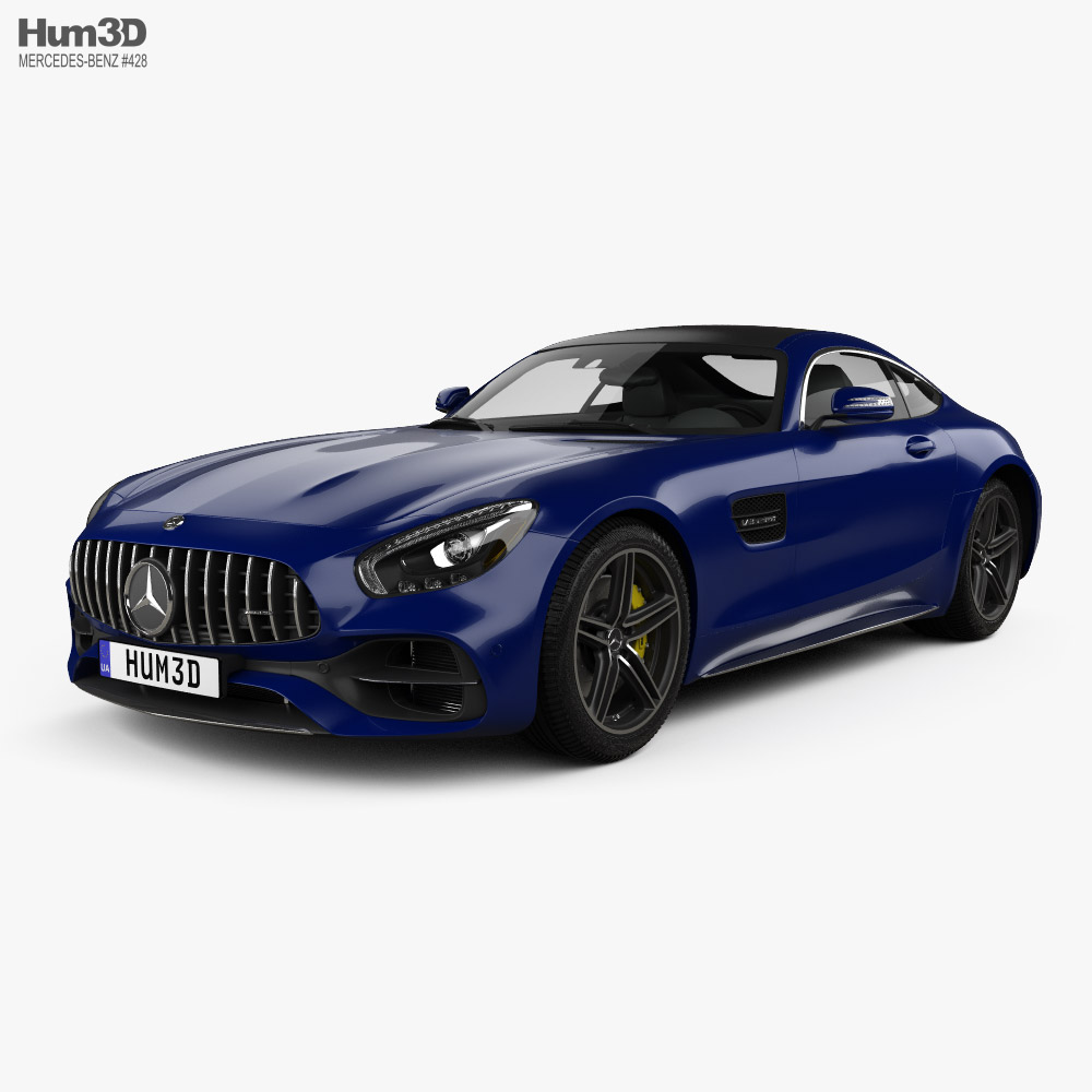 3D model of Mercedes-Benz AMG GT C coupe 2016