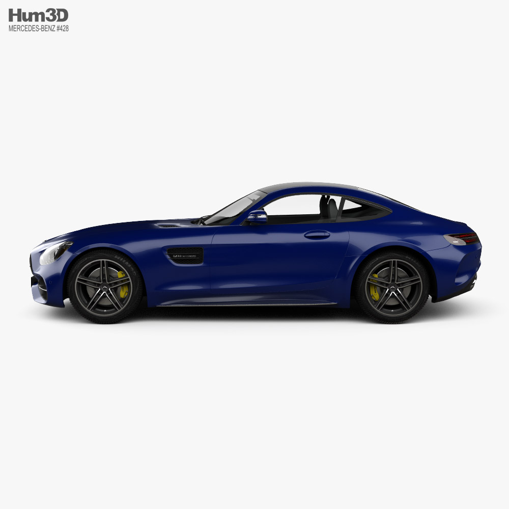 Mercedes-Benz AMG GT C coupe 2016 3D model