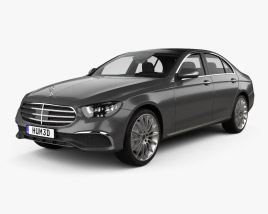 3D model of Mercedes-Benz E-class Exclusive line sedan 2020