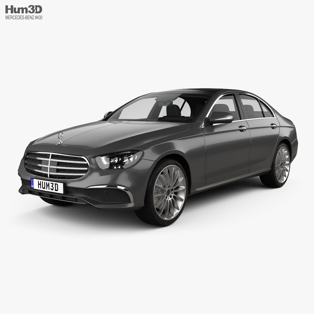 Mercedes-Benz E-class Exclusive line sedan 2020 3D model