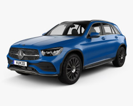 3D model of Mercedes-Benz GLC-class L 2019
