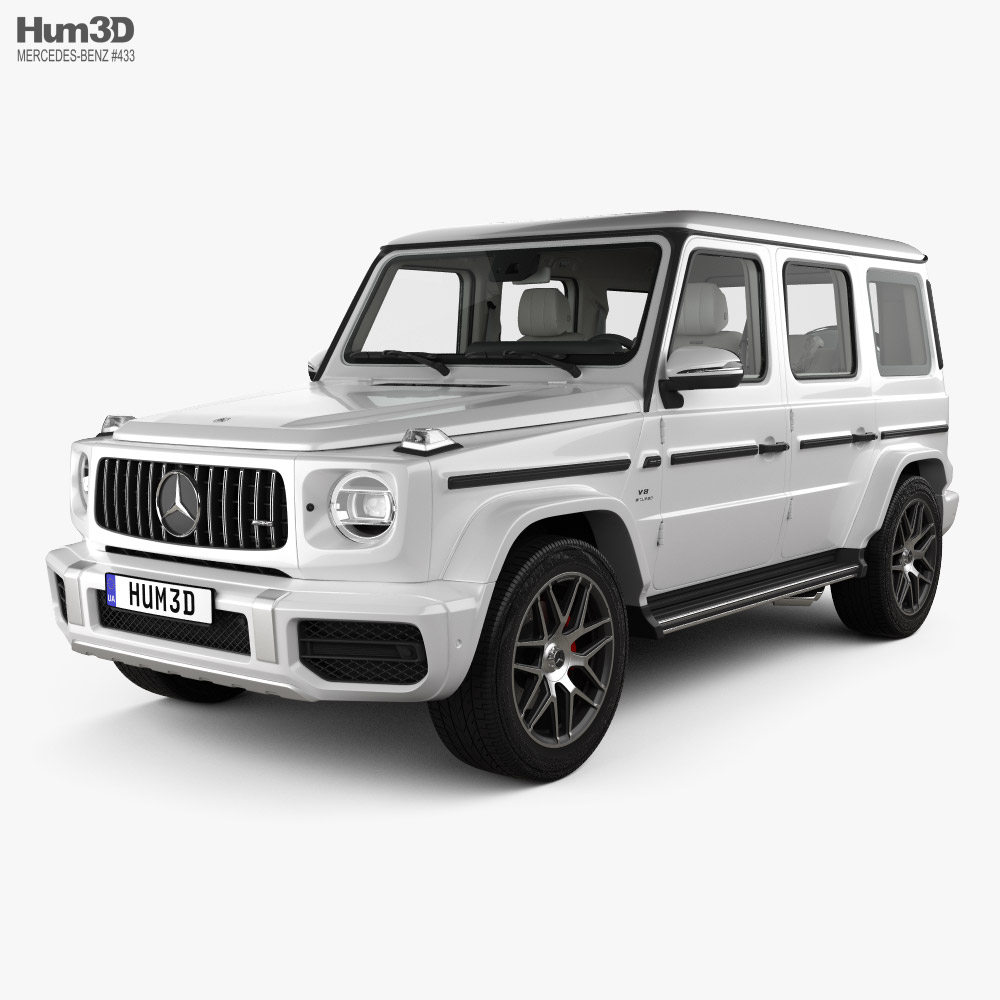 3D model of Mercedes-Benz G-class (W463) AMG with HQ interior 2019