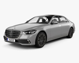 3D model of Mercedes-Benz S-Class (V222) LWB  2021