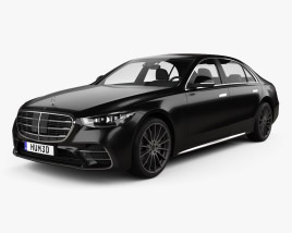 3D model of Mercedes-Benz S-Class e LWB AMG-Line 2021
