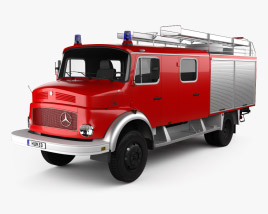 3D model of Mercedes-Benz LAF 1113 B Fire Truck 1980