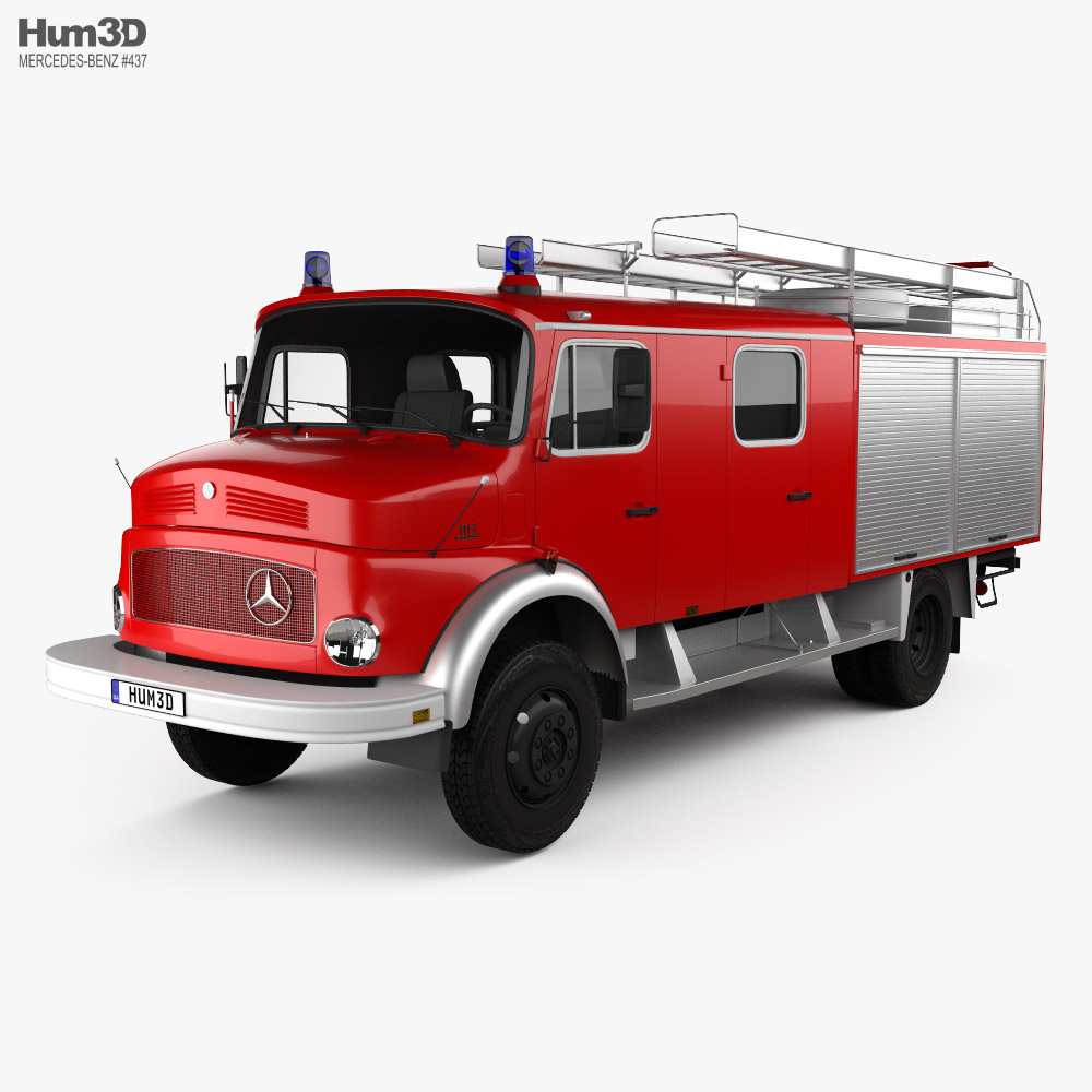 Mercedes-Benz LAF 1113 B Fire Truck 1980 3D model