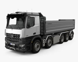 Mercedes-Benz Arocs Tipper Truck 5-axle 2013 3D model