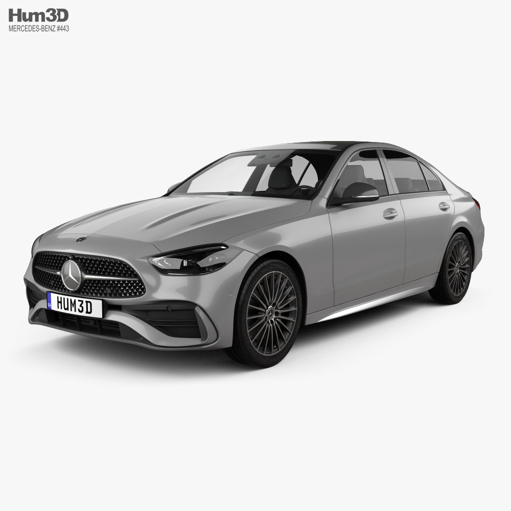 Mercedes-Benz C-class AMG-Line sedan 2021 3d model