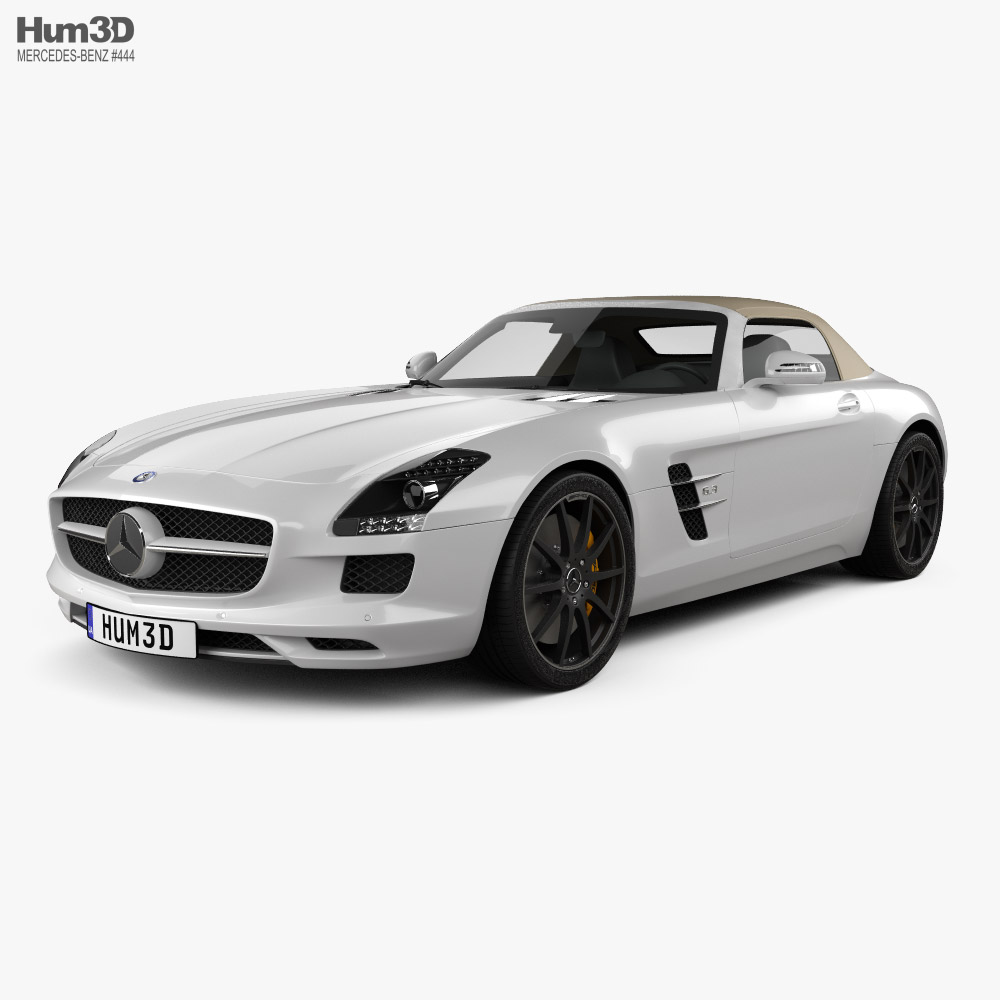 Mercedes-Benz SLS-class roadster 2011 3D model