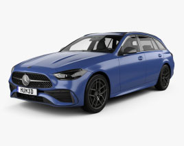 Mercedes-Benz C-class AMG-Line estate 2021 3D model