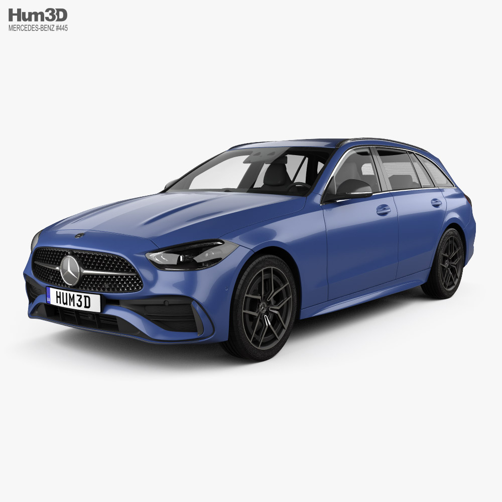 Mercedes-Benz C-class AMG-Line estate 2021 3D model