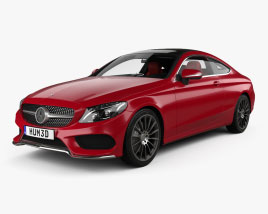 Mercedes-Benz C-class coupe AMG-Line with HQ interior 2015 3D model