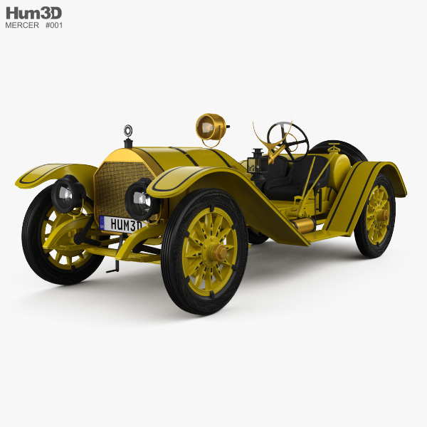 Mercer 35R Raceabout 1910 3D model