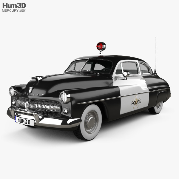 Mercury Eight Coupe Police 1949 3D model