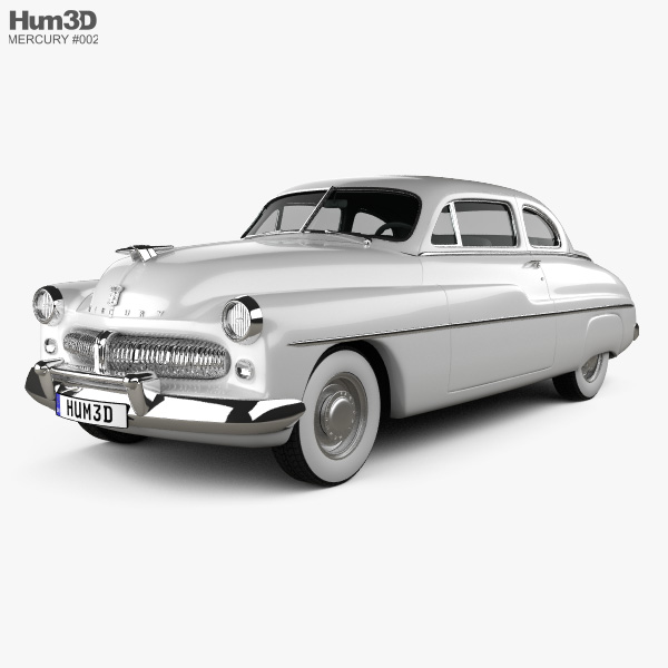3D model of Mercury Eight Coupe 1949