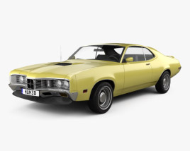 3D model of Mercury Montego Coupe 1970