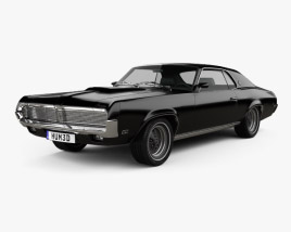 3D model of Mercury Cougar XR-7 1969