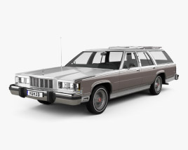 3D model of Mercury Marquis Colony Park 1981