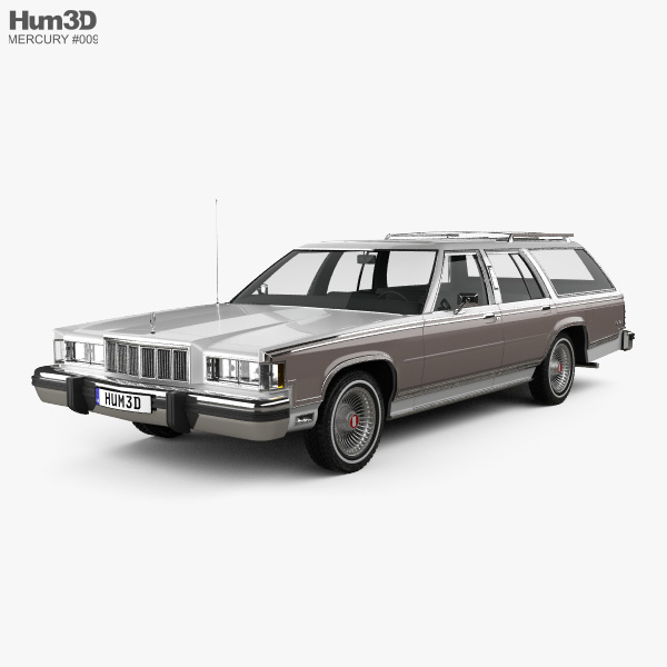 Mercury Marquis Colony Park 1981 3D model