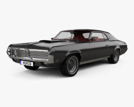 3D model of Mercury Cougar XR-7 with HQ interior 1969