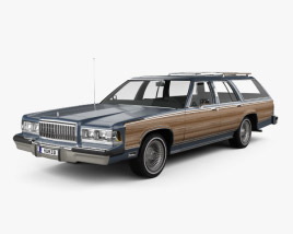 3D model of Mercury Grand Marquis Colony Park 1988