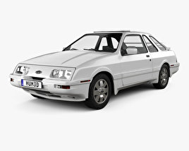 3D model of Merkur XR4Ti 1985