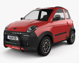3D model of Microcar M.Go Highland X 2016