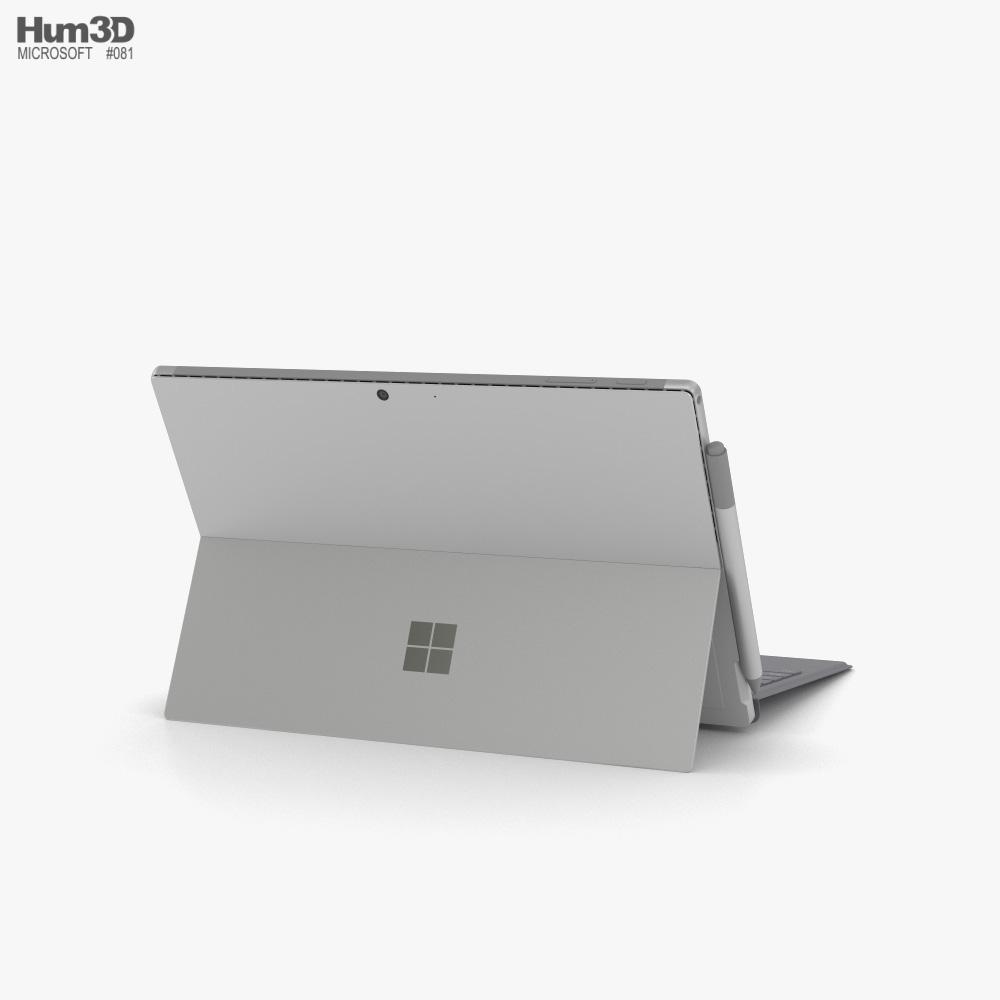 Microsoft Surface Pro 7 Platinum 3d model