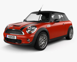 3D model of Mini John Cooper Works Convertible 2011